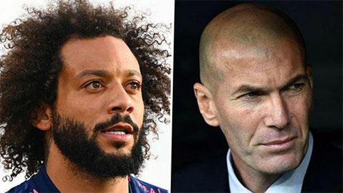 """""""Bật"""" thầy trên sân tập, Marcelo bị HLV Zidane trừng phạt"""