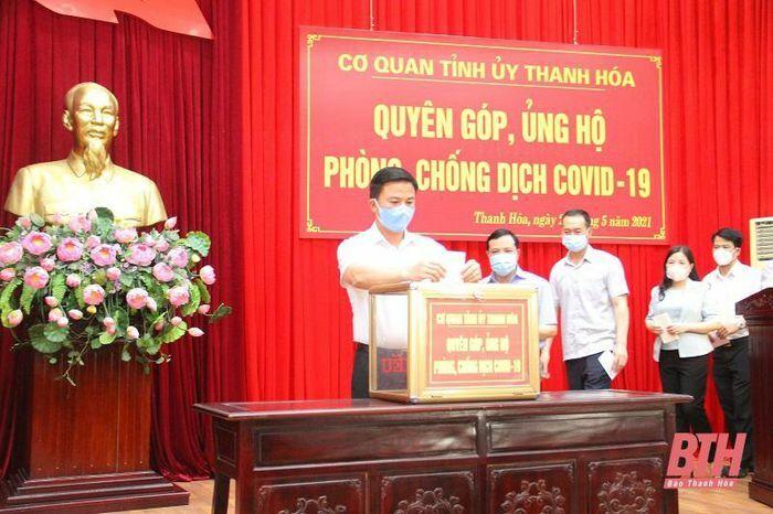 Cơ quan Tỉnh ủy Thanh Hóa phát động quyên góp ủng hộ phòng, chống dịch COVID-19