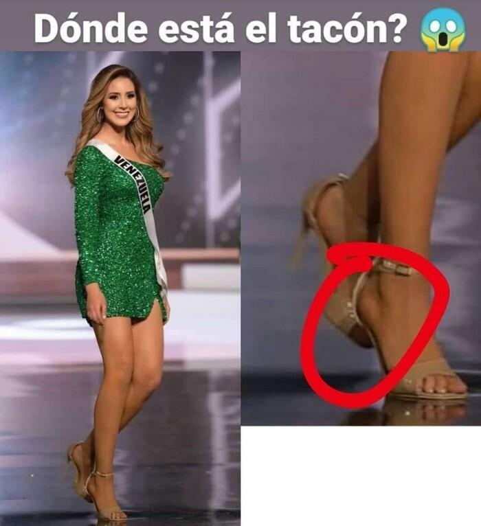 'Tá hoả' khoảnh khắc Miss Venezuela catwalk như bay khi giày gãy gót, sự thật là?