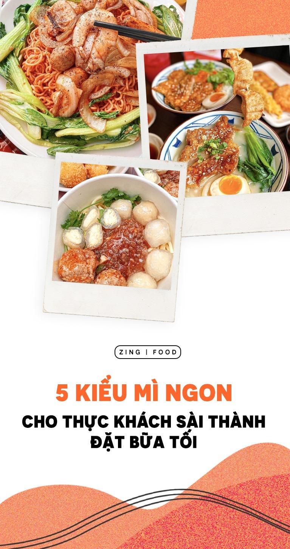 5 kiểu mì ngon cho bữa tối ở Sài thành