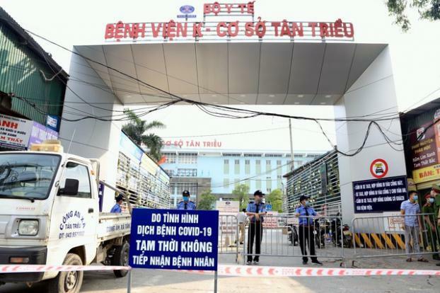 Phát hiện 1 ca mắc COVID-19, bệnh viện K Tân Triều phong tỏa, dừng nhận bệnh nhân