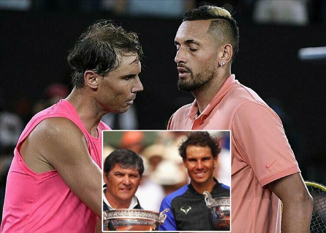 Trai hư Kyrgios công kích Nadal, ông chú Toni vẫn ca ngợi