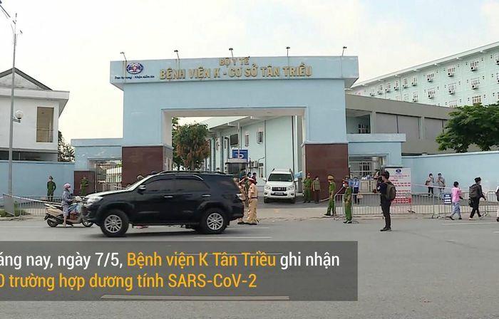 Toàn cảnh phong tỏa Bệnh viện K cơ sở Tân Triều