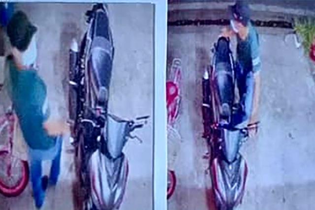 Camera ghi toàn cảnh tên trộm xe máy đâm chết bác sĩ ở Bình Dương