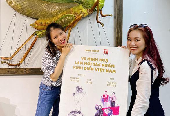 """2 cô gái 9X của Trạm Radio """"góp gió"""" cho văn học Việt"""