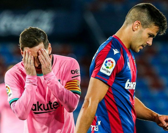 Messi mắc sai lầm tai hại, Barca sảy chân trong cuộc đua vô địch La Liga