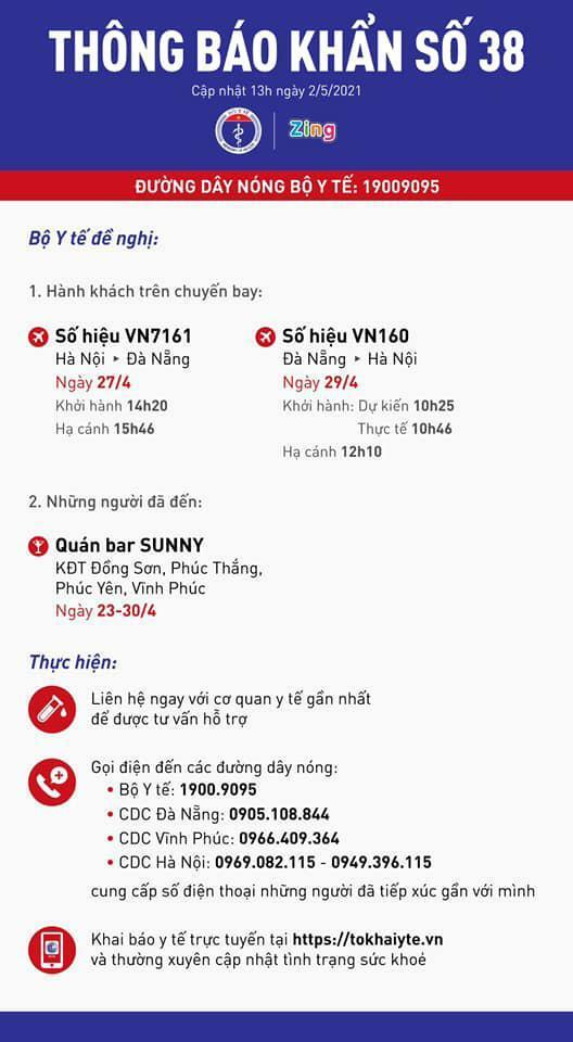 Tìm người đi trên 2 chuyến bay VN7161, VN160 và đến quán bar Sunny