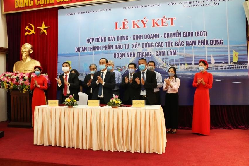 Ký kết hợp đồng BOT dự án thành phần đầu tư xây dựng đoạn Nha Trang – Cam Lâm