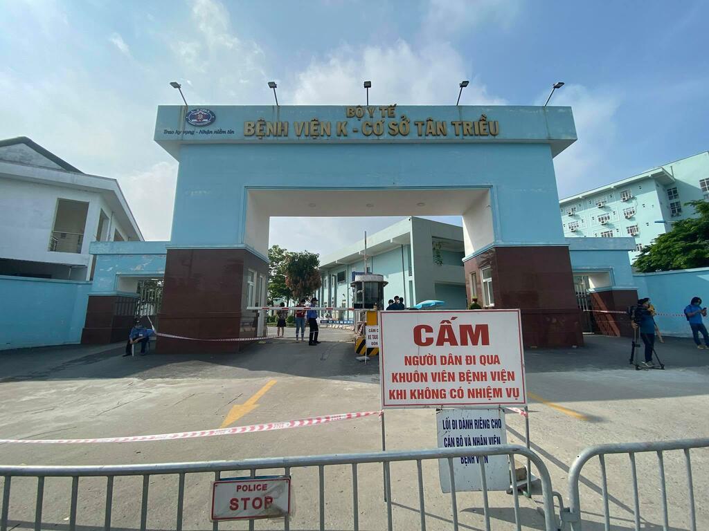Chùm ca bệnh ở Bệnh viện K đến trụ sở ủy ban, ra quán ăn, nhà trọ gần Bệnh viện K