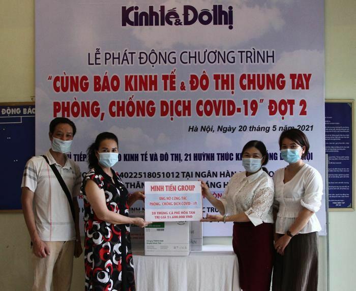 Minh Tien Group sẻ chia với tuyến đầu chống dịch