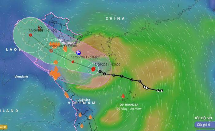 Đêm nay, tâm bão KOGUMA sẽ nằm ở vùng biển từ Hải Phòng đến Nghệ An - ảnh 1