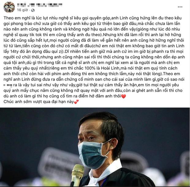 1 netizen bàn chuyện NS Hoài Linh đúng sai trong drama từ thiện, Ốc Thanh Vân bình luận 3 chữ đủ thể hiện thái độ với đàn anh - ảnh 1