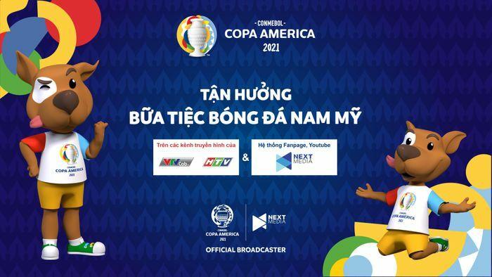 Khán giả Việt Nam được xem miễn phí các trận tại Copa America
