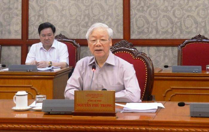 Tổng Bí thư Nguyễn Phú Trọng: Tiếp tục huy động cả hệ thống chính trị phòng, chống dịch Covid-19 - ảnh 1
