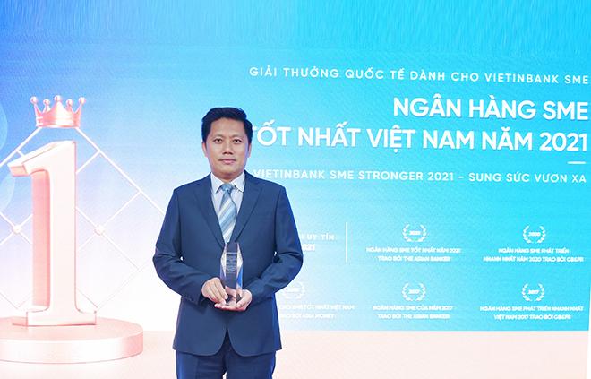 VietinBank đón nhận Giải thưởng Ngân hàng SME tốt nhất Việt Nam năm 2021 - ảnh 1