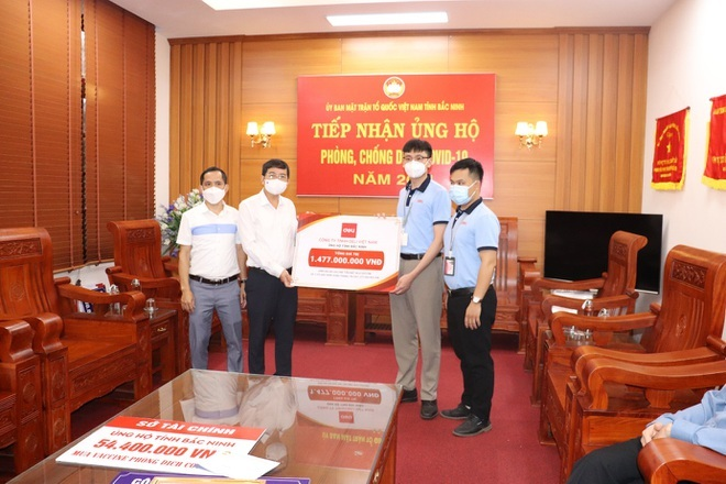 Deli Việt Nam ủng hộ quỹ phòng chống dịch Covid-19 của tỉnh Bắc Ninh - ảnh 1
