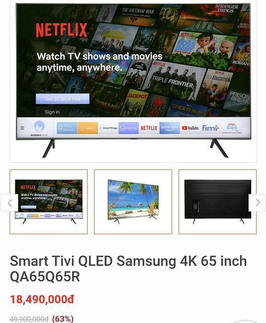 Tivi màn hình lớn siêu giảm giá mùa bóng đá, màn hình 65 inch chỉ từ 15 triệu đồng