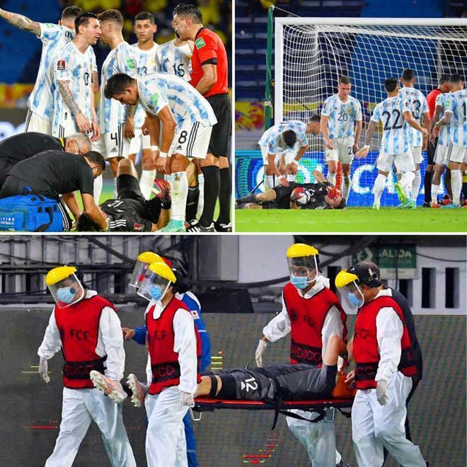 Đồng đội Messi mất ý thức sau pha va chạm rợn người, đầu đập xuống đất - ảnh 1