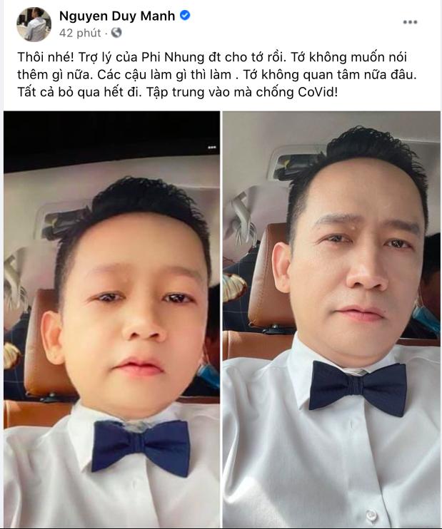 """Duy Mạnh tuyên bố """"ngừng chiến"""" vụ bị xúi chửi bà Phương Hằng, tất cả nhờ 1 cuộc điện thoại từ phía Phi Nhung? - ảnh 1"""