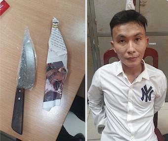 Bắt nam thanh niên cầm dao xông vào cửa hàng quần áo cướp đồ tặng bạn gái - ảnh 1