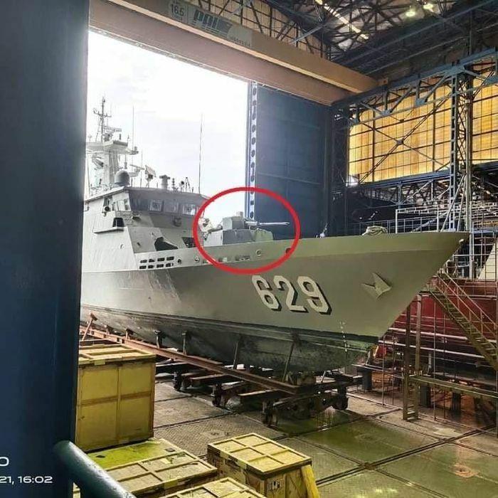 Cận cảnh khẩu pháo đặc biệt được Indonesia lắp lên tàu chiến tương lai - ảnh 1