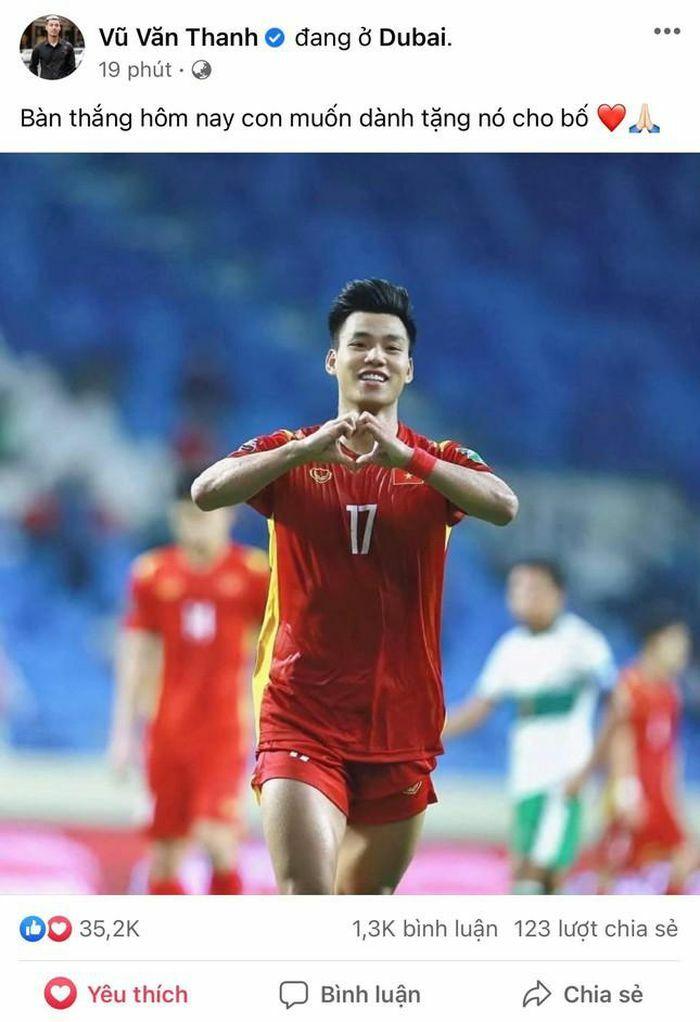 Sau trận đấu Việt Nam - Indonesia, Văn Thanh chia sẻ về bàn thắng dành tặng người đặc biệt - ảnh 1