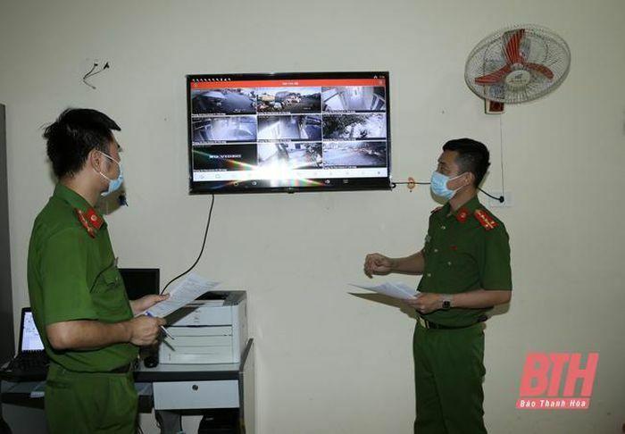 Thị xã Nghi Sơn: Camera giám sát an ninh góp phần cho khu phố bình yên - ảnh 1