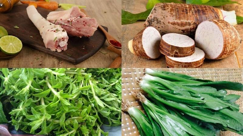 Cách nấu canh đuôi heo hầm khoai môn ngon miệng bùi béo bổ dưỡng