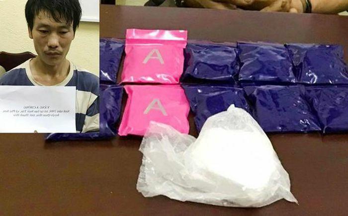 Bị vây bắt, đối tượng chống trả quyết liệt để phi tang gần 2.000 viên ma túy tổng hợp - ảnh 1
