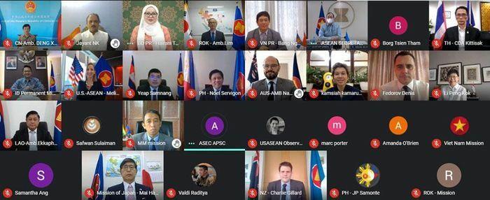 Đại sứ các nước thành viên Cấp cao Đông Á trao đổi kinh nghiệm phòng chống dịch Covid-19
