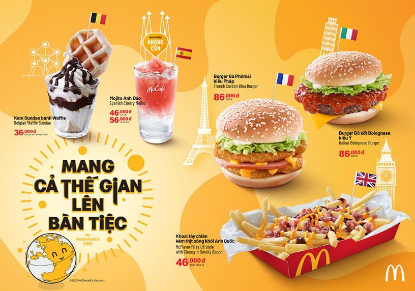 Tour ẩm thực Châu Âu tại McDonald's