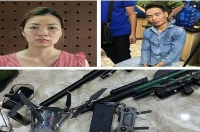 Hai vợ chồng mang súng đạn đi hành nghề ma túy - ảnh 1