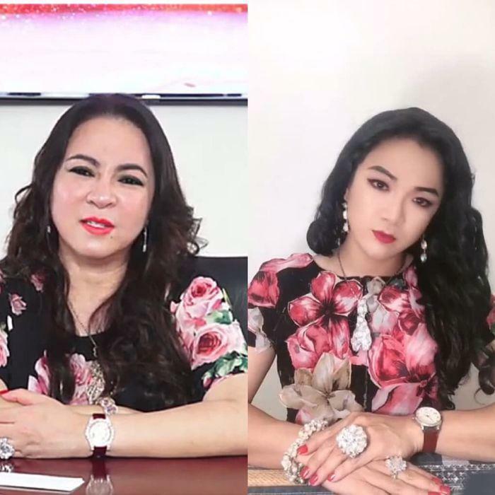 Xuất hiện em gái sinh đôi của bà Phương Hằng khiến nhiều người nhầm lẫn - ảnh 1