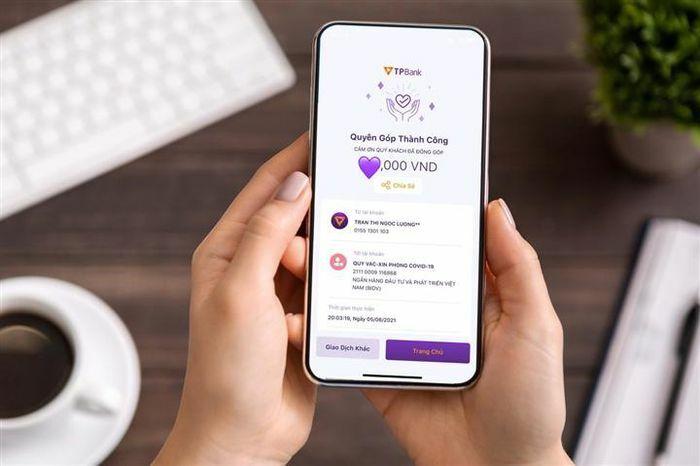 TPBank là ngân hàng duy nhất có tính năng quyên góp nhanh trên app - ảnh 1