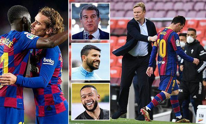 Những kịch bản HLV Koeman nâng đỡ tân binh Depay soán ngôi Messi