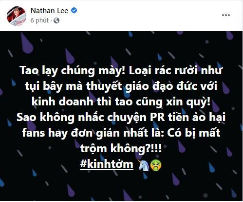 Nathan Lee kinh tởm kẻ 'thuyết giáo kinh doanh', đó là ai? - ảnh 1