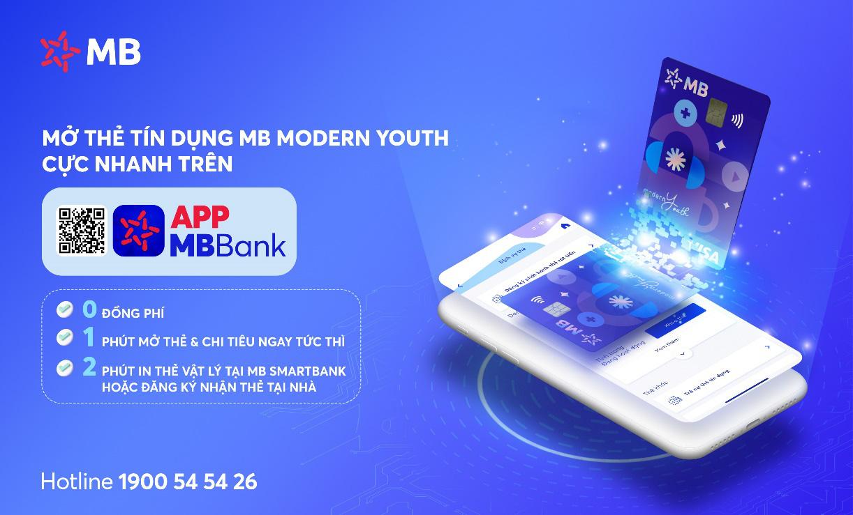 Phát hành thẻ tín dụng online siêu tốc chỉ trong 1 phút trên App MBBank