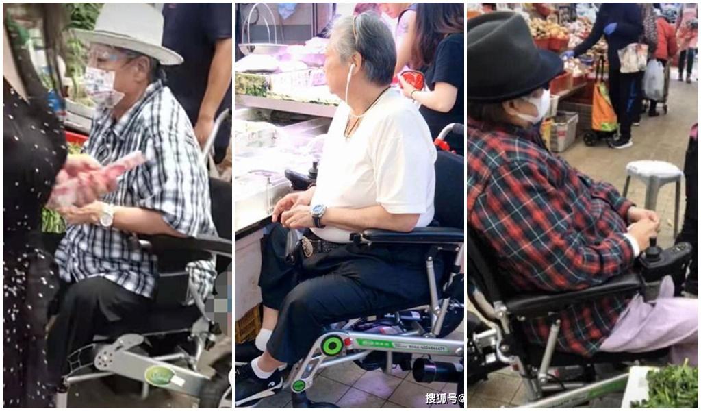 Ngôi sao võ thuật Hồng Kim Bảo ngồi xe lăn đi chợ - ảnh 1