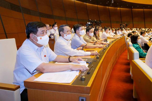 100% ĐBQH có mặt tán thành thông qua Nghị quyết về cơ cấu Chính phủ nhiệm kỳ 2021-2026 - ảnh 1