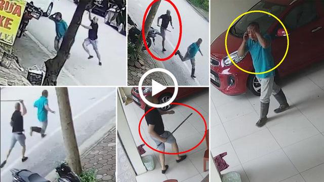 Tài xế Mazda chặn xe máy, cầm gậy sắt vụt vỡ đầu người đàn ông vì túi đồ đánh rơi - ảnh 1