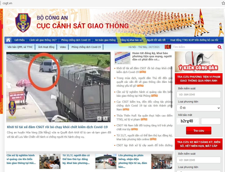 Hướng dẫn đăng ký xe online - ảnh 1