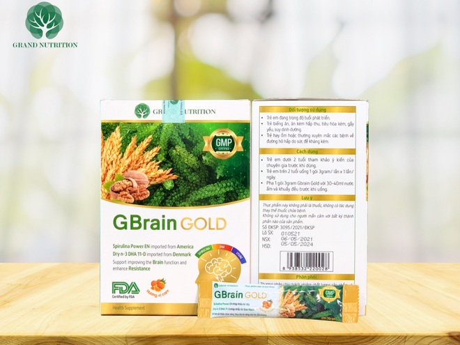 Grand Nutrition ra mắt dòng sản phẩm cao cấp mới: Cốm trí não GBrain Gold - ảnh 1