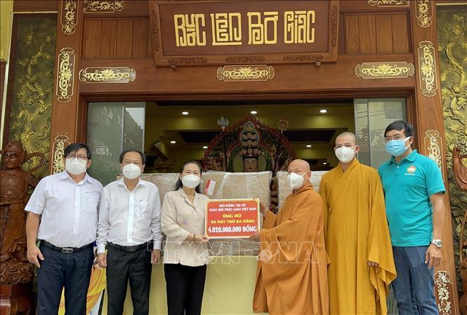 TP Hồ Chí Minh tiếp nhận thiết bị y tế do Giáo hội Phật giáo Việt Nam trao tặng - ảnh 1
