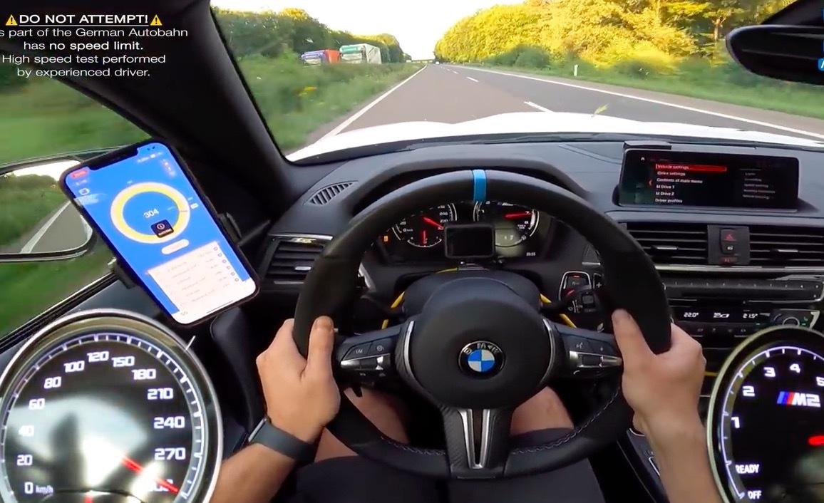 Xem chiếc BMW M2 phi như bay hơn 300 km/h trên đường cao tốc - ảnh 1