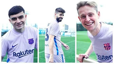 Barcelona công bố áo sân khách, không có Griezmann - ảnh 1
