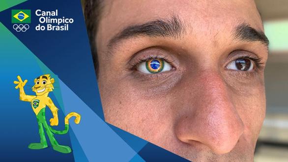 Vận động viên ''đặc biệt nhất'' ở Olympic Tokyo với 1 mắt giả mang hình quốc kỳ Brazil - ảnh 1
