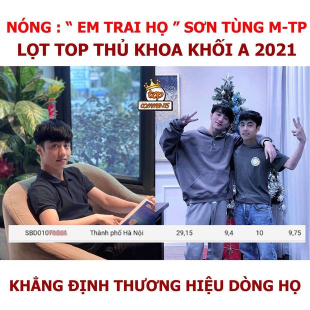 Xôn xao thông tin em trai họ Sơn Tùng M-TP lọt top 5 thí sinh điểm cao nhất cả nước: Chính chủ chính thức lên tiếng