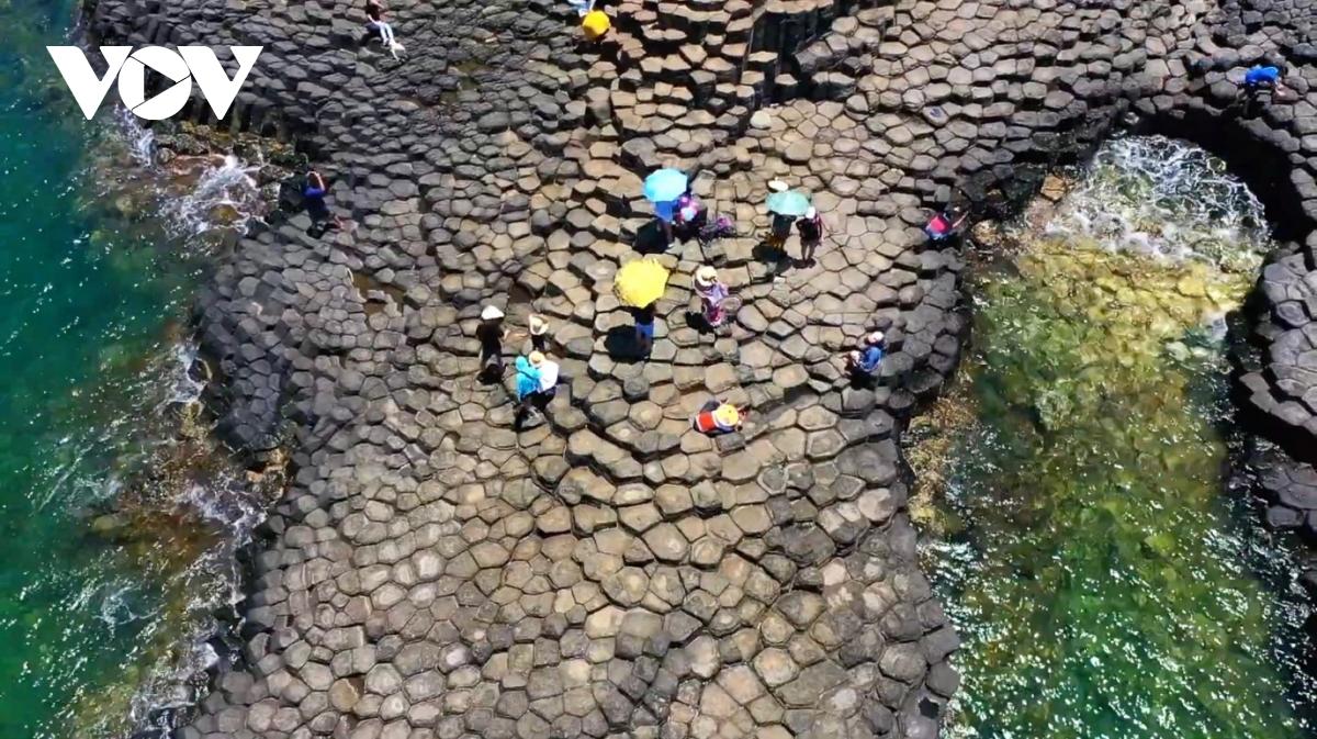 Gành Đá Đĩa Phú Yên tuyệt đẹp qua lăng kính vlogger Bùi Tiên Phong - ảnh 1