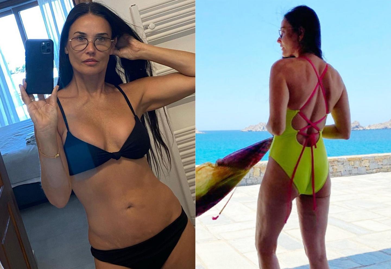 Demi Moore mặc bikini gợi cảm ở tuổi 58 - ảnh 1