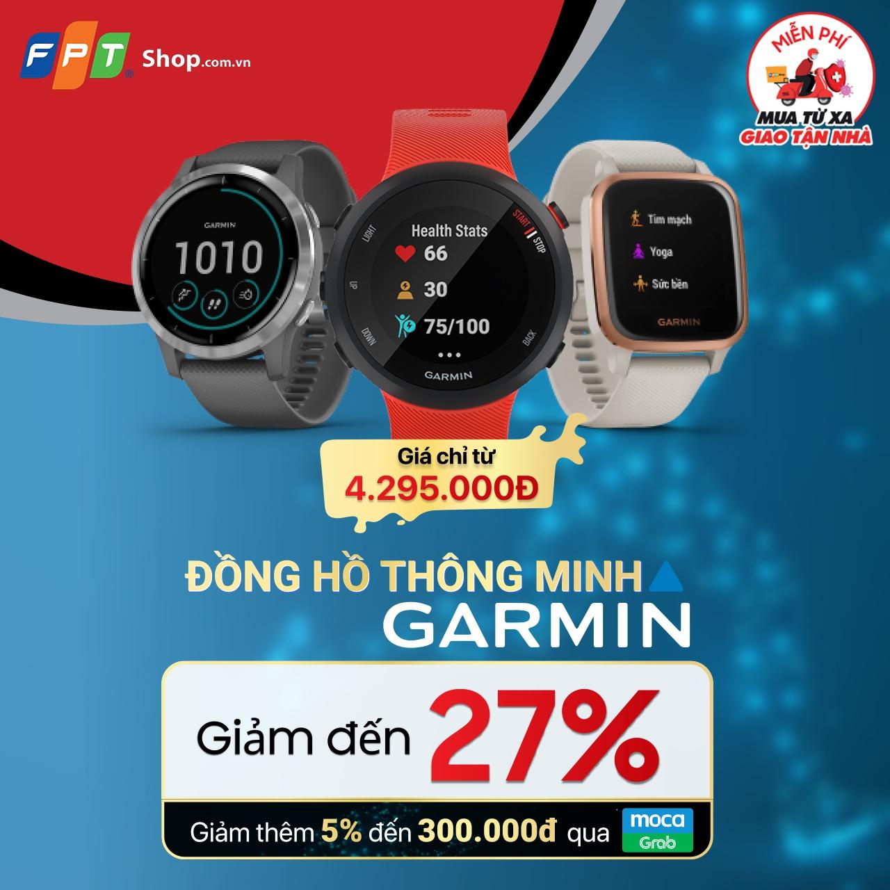 Sắm đồng hồ Garmin chính hãng ưu đãi đến 27% tại FPT Shop - ảnh 1